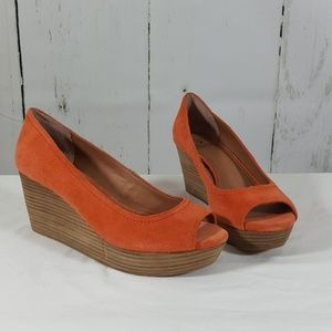 Lucky Brand Shoes - Lucky Brand Peep Toe Wedges